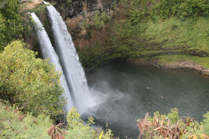 Swimming at Wailua Falls – Kauai